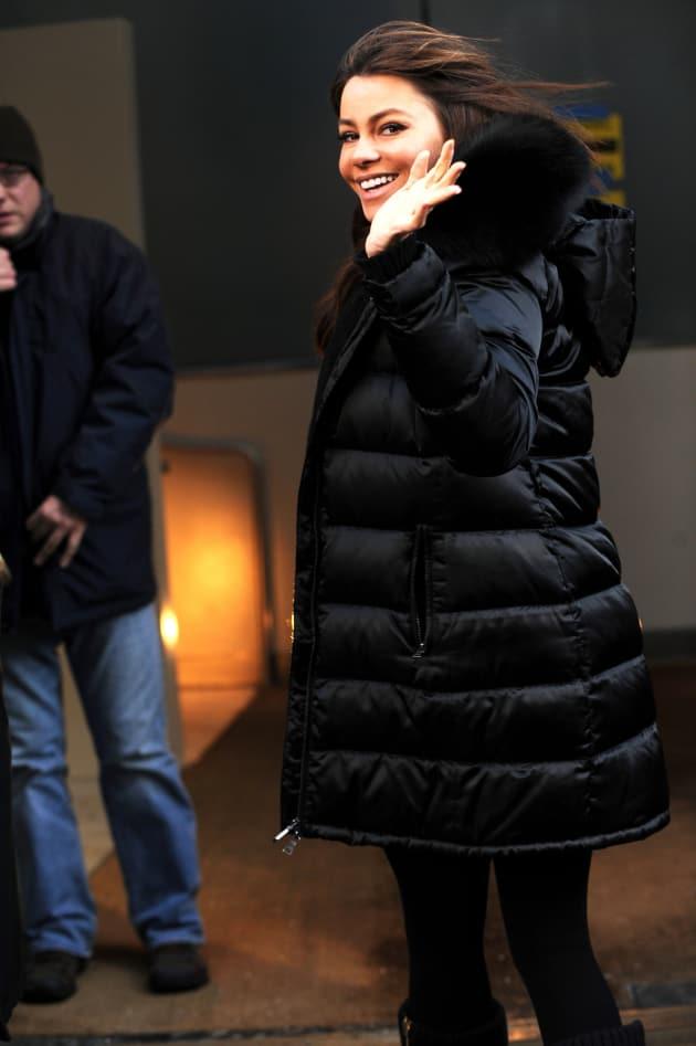 Sofia Vergara on Set of New Year's Eve