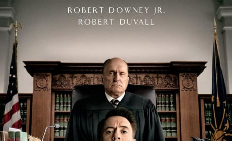 The Judge Poster: Robert Duvall Looks Down on Robert Downey Jr.