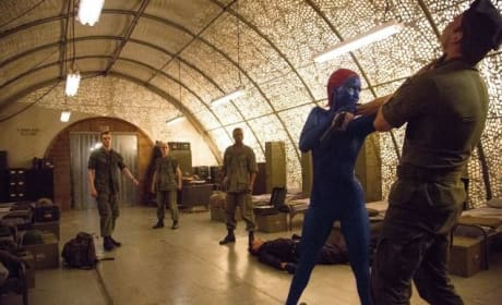 Jennifer Lawrence is Mystique in X-Men: Days of Future Past
