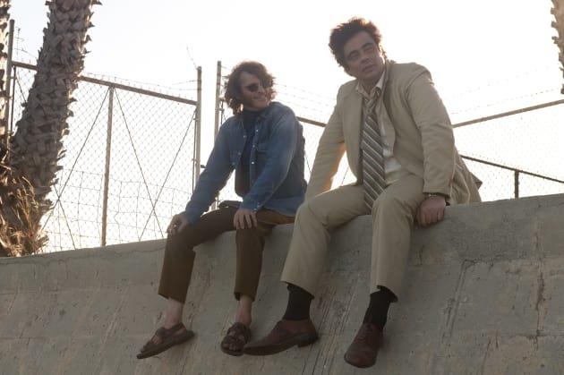 Benicio and Joaquin Take in the View