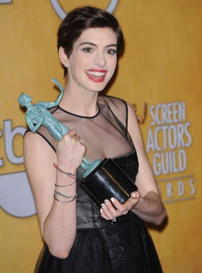 Anne Hathaway at the SAG Awards