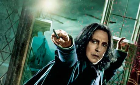 Snape Looks Scared