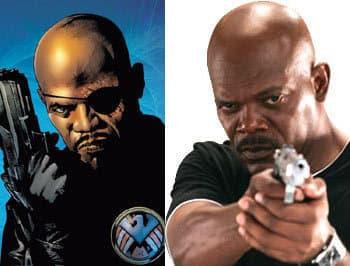 Jackson as Fury