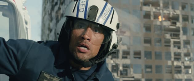 Dwayne Johnson San Andreas Still