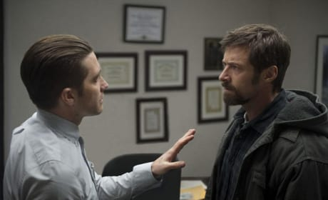 Prisoners Unlocks Two Stills: Hugh Jackman Confronts Jake Gyllenhaal