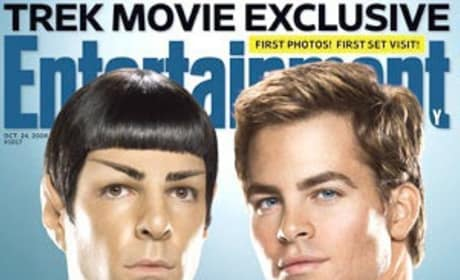 Stars Trek Toward Entertainment Weekly Cover