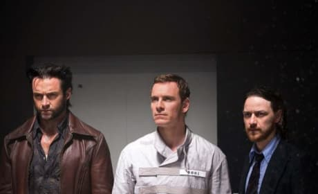 Hugh Jackman Michael Fassbender James McAvoy X-Men: Days of Future Past