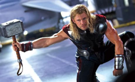 Thor is Chris Hemsworth in The Avengers