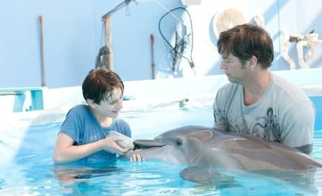Harry Connick Jr. and Nathan Gamble in Dolphin Tale