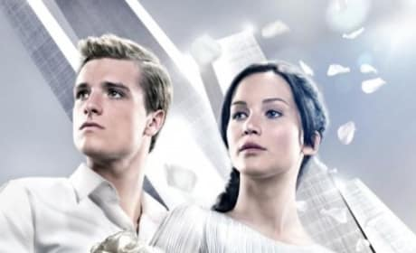 Catching Fire Katniss Peeta Victory Tour Poster