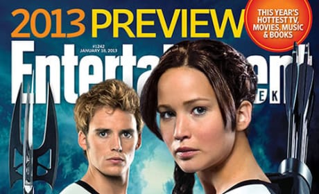 Catching Fire First Look: EW's Sam Claflin and Jennifer Lawrence Cover