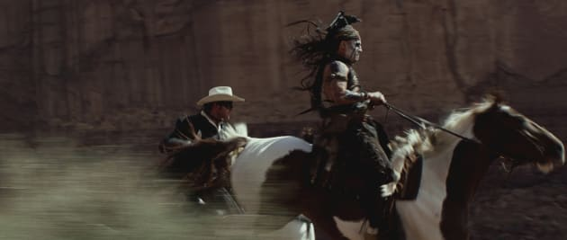 Armie Hammer The Lone Ranger and Johnny Depp Tonto
