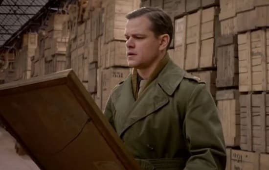The Monuments Men Matt Damon
