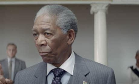 Morgan Freeman as Nelson Mandela