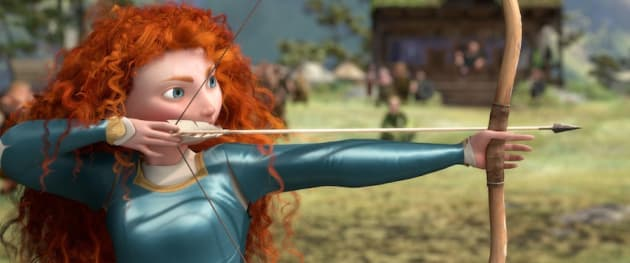 Brave: Princess Merida takes aim