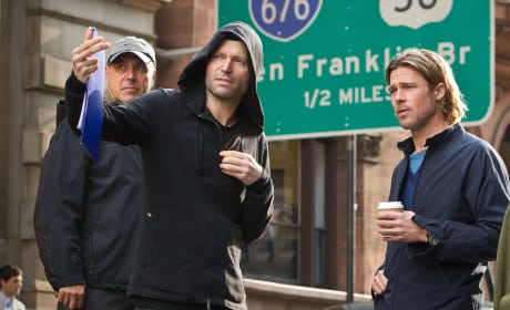 World War Z Set Brad Pitt Marc Forster