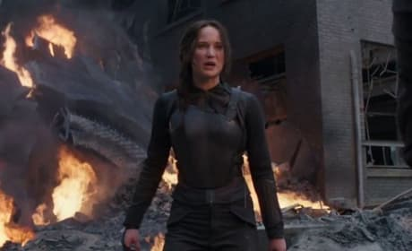 Jennifer Lawrence in Mockingjay Part 1
