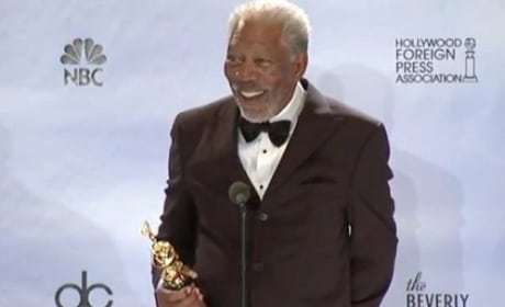 Morgan Freeman at the Golden Globes