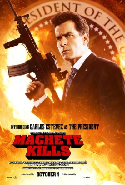 Machete Kills Charlie Sheen Poster