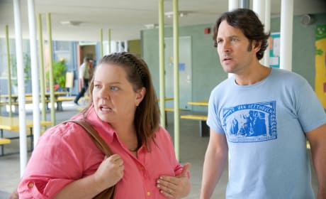Melissa McCarthy and Paul Rudd This is 40