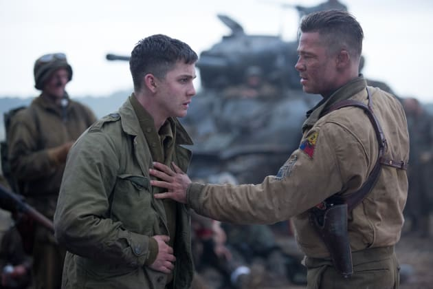 Fury Brad Pitt Logan Lerman