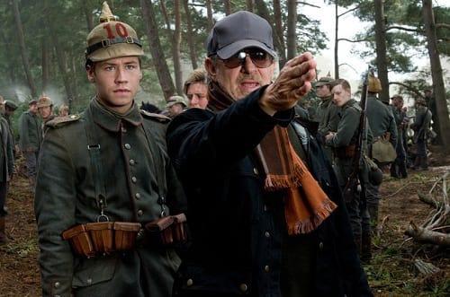 Steven Spielberg on Set of War Horse