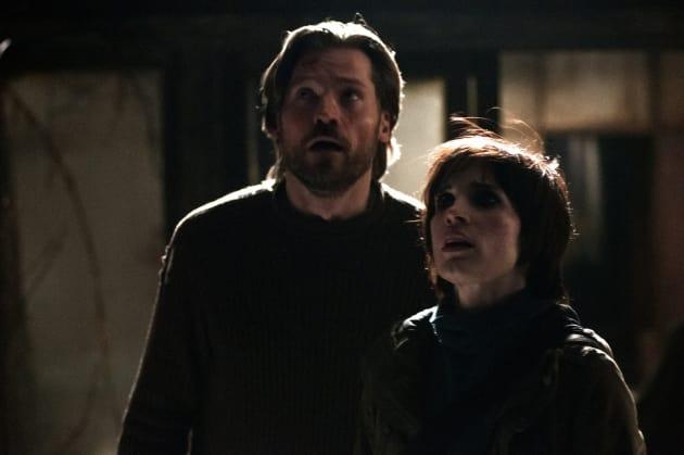 Nikolaj Coster-Waldau and Jessica Chastain Mama Still