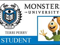 Terri Perry Monsters University Student ID