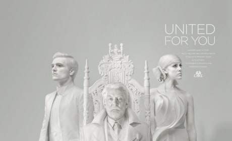 Mockingjay Part 1 President Snow Peeta Johanna Capitol Portrait