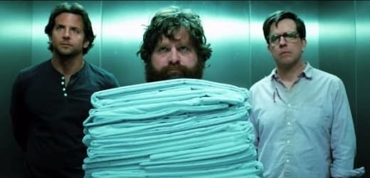 Bradley Cooper, Zach Galifianakis and Ed Helms The Hangover Part III