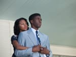 Nicole Beharie and Chadwick Boseman in 42