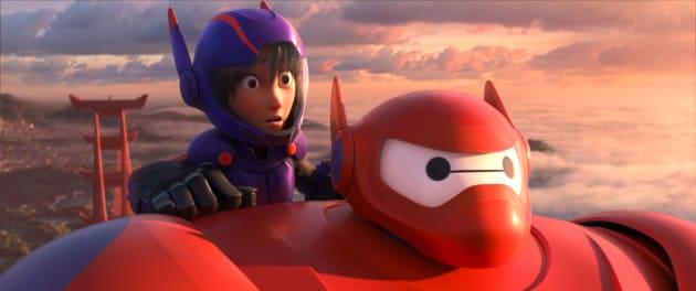 Baymax and Hiro Take to the Sky