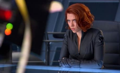 Three New Avengers Photos: Scarlett's Black Widow Wicked Glare