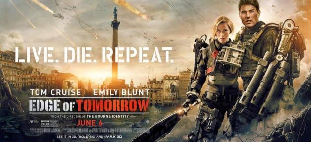 Edge of Tomorrow Emily Blunt Tom Cruise Banner