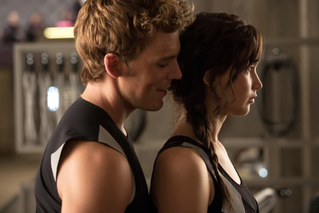 Catching Fire Sam Claflin Jennifer Lawrence