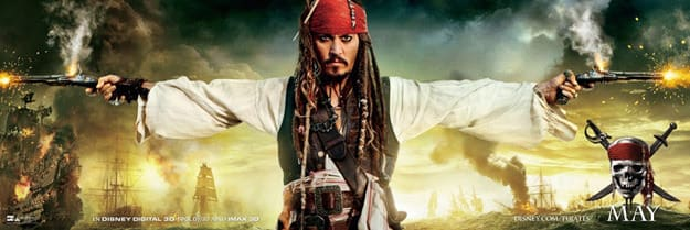 Pirates of the Caribbean 4 Movie Banner