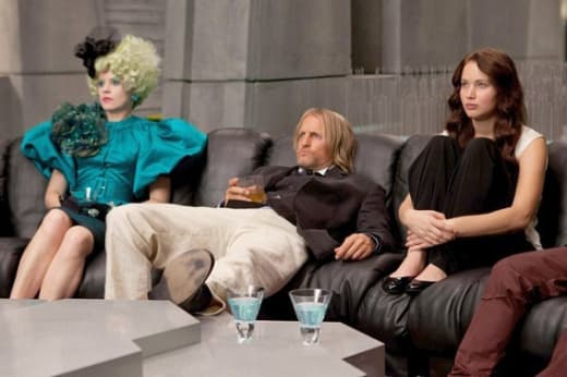 Woody Harrelson and Jennifer Lawrence in The Hunger Games