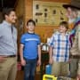 Zachary Gordon and Steve Zahn in Diary of a Wimpy Kid Dog Days