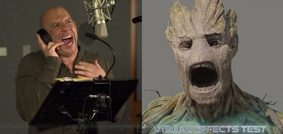 Guardians of the Galaxy Vin Diesel Effects Test
