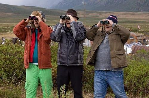 Owen Wilson, Jack Black and Steve Martin in The Big Year