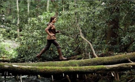 Katniss is Jennifer Lawrence in The Hunger Games