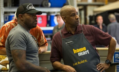 The Equalizer Set Photo Denzel Washington Antoine Fuqua