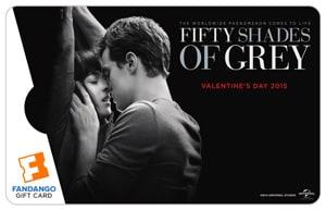 Fifty Shades of Grey Fandango Gift Card