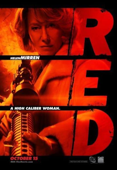 Red Character Poster -Helen Mirren