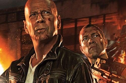Jai Courtney Bruce Willis A Good Day to Die Hard