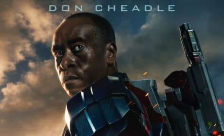 Iron Man 3 Character Poster: Don Cheadle in the Iron Patriot Armor