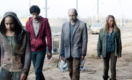 Nicholas Hoult, Rob Corddry, and Teresa Palmer Warm Bodies