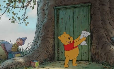 Pooh finds the letter