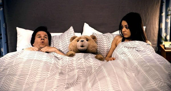 Mila Kunis and Mark Wahlberg in Ted