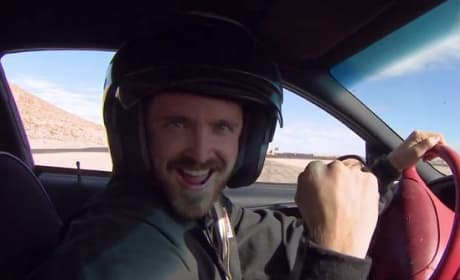 Aaron Paul at Need for Speed Driving School